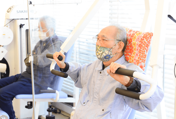 呼吸機能や上半身の動作改善